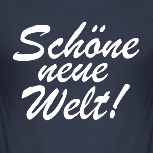 nwowhite - Slim Fit T-shirt herr
