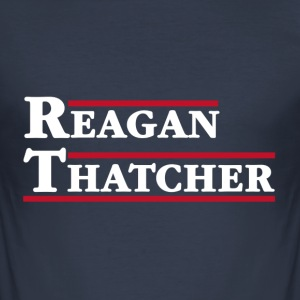 Reagan & Thatcher - Men's Slim Fit T-Shirt