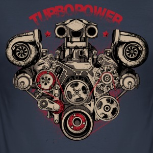 turbo power - Men's Slim Fit T-Shirt