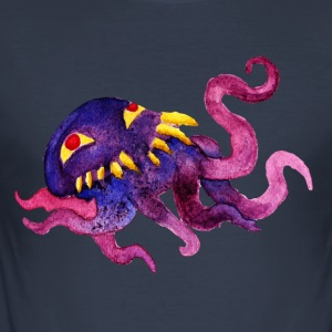 Ultros Watercolor - Slim Fit T-shirt herr