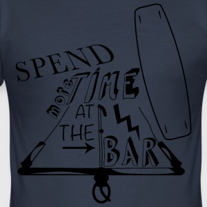 Spend more time at the bar - Männer Slim Fit T-Shirt