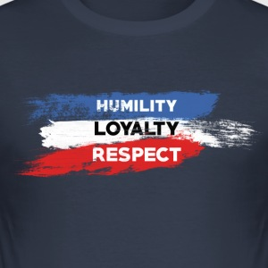 Ydmyghed - Loyalitet - Respekt - Herre Slim Fit T-Shirt