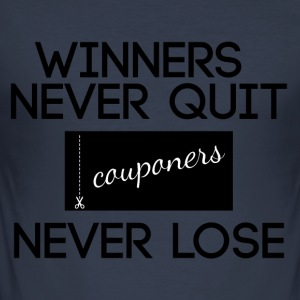 Couponing / Gifts: Winners never quit, couponers - Men's Slim Fit T-Shirt
