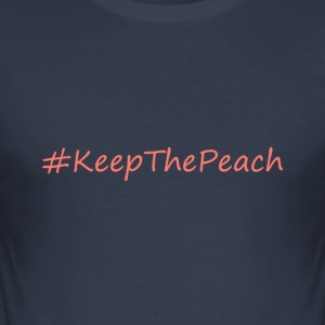 Hashtag KeepThePeach Coral - Herre Slim Fit T-Shirt