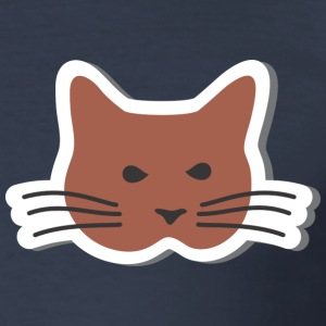 Cat with whiskers - Men's Slim Fit T-Shirt