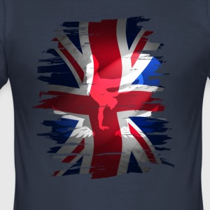 Union Jack brittisk flagga England skater grunch gata - Slim Fit T-shirt herr