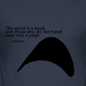 Travel_Quote_copy - Herre Slim Fit T-Shirt