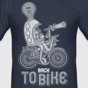 back to bike - Tee shirt près du corps Homme