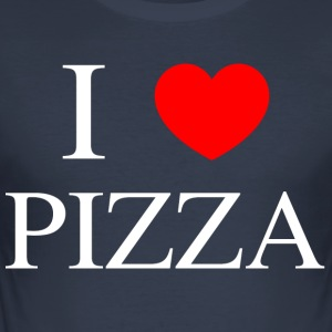 ILOVPIZZA - Männer Slim Fit T-Shirt