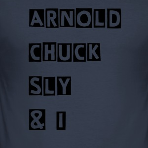 Arnold Chuck Sly & I - Slim Fit T-shirt herr