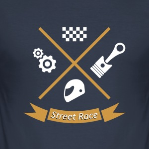 streetrace road race - Slim Fit T-skjorte for menn