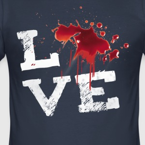 Love blood Halloween Horror splatter Movie Fleck ir - Men's Slim Fit T-Shirt