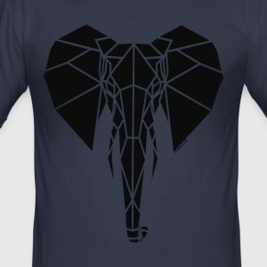 Geometrische Stencilize Elephant - slim fit T-shirt