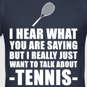 Grappig Tennisspeler Cadeau Idee - slim fit T-shirt