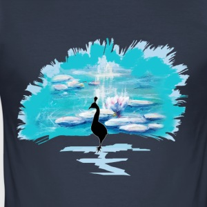The Peacock Monet - Slim Fit T-skjorte for menn