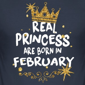 Real princesses are born in February! - Men's Slim Fit T-Shirt