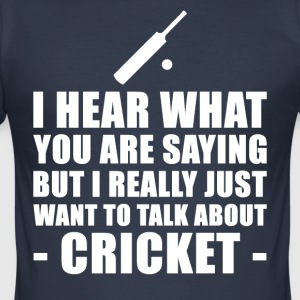 Grappig Cricket Cadeau Idee - slim fit T-shirt