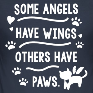 Cat Angel Gift - Men's Slim Fit T-Shirt