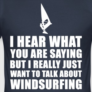 Grappig Windsurf Cadeau Idee - slim fit T-shirt