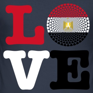 Egypt Egypt مصر Love heart mandala - Men's Slim Fit T-Shirt