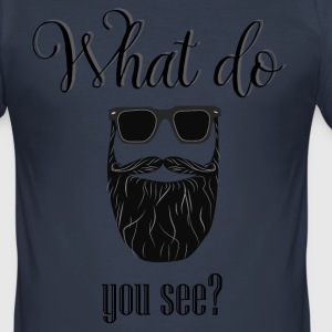 What do you see? - Men's Slim Fit T-Shirt