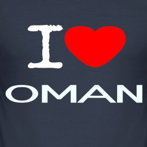 I LOVE OMAN - Männer Slim Fit T-Shirt