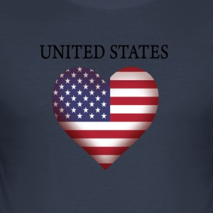 USA - Slim Fit T-skjorte for menn