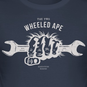 Die Two Wheeled Ape APE white handed - Männer Slim Fit T-Shirt
