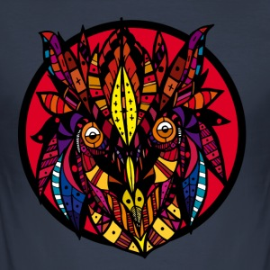 psychedelic owl - Men's Slim Fit T-Shirt