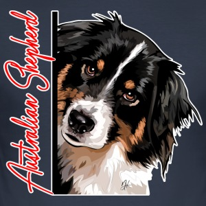 Australian Shepherd DA - Slim Fit T-skjorte for menn