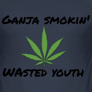 Ganja smokin 'ungdom - Slim Fit T-shirt herr