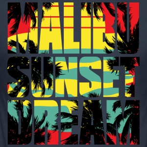 Malibu sunset dream - Slim Fit T-skjorte for menn