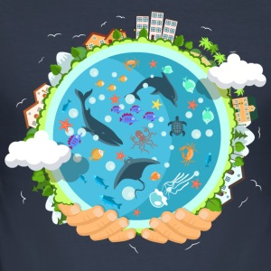 oceanlife - Herre Slim Fit T-Shirt