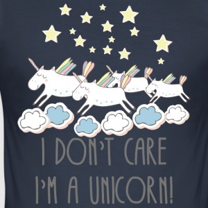 I DON'T CARE I'AM A UNICORN! - Männer Slim Fit T-Shirt