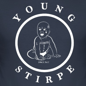 YOUNG.STIRPE - Slim Fit T-shirt herr