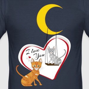 katte på swing - Herre Slim Fit T-Shirt