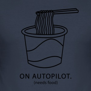 On Autopilot needs food - Men's Slim Fit T-Shirt