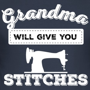 grandma will give you stitches - Men's Slim Fit T-Shirt