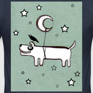 Dog, Bird & Moon - Men's Slim Fit T-Shirt