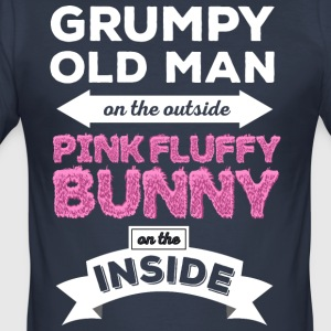 Grumpy Rose Fluffy Lapin - Tee shirt près du corps Homme
