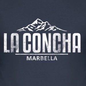 La Concha Vintage White for Marbella - Men's Slim Fit T-Shirt