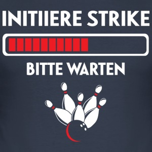 Bowling Strike - Männer Slim Fit T-Shirt