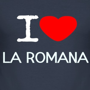 I LOVE LA ROMANA - Men's Slim Fit T-Shirt