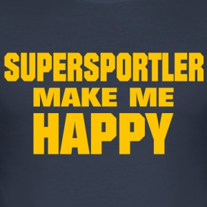 Supersportler Make Me Happy - Men's Slim Fit T-Shirt