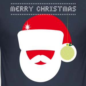 Kerstmarkt grote breien ironie Retro Party fun - slim fit T-shirt