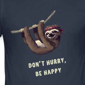 Sloth pirat chill nörd nörd sömn lat lol - Slim Fit T-shirt herr