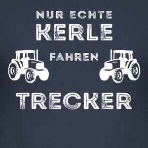 ONLY GENUINE GUYS DRIVING TRACTOR - Men's Slim Fit T-Shirt