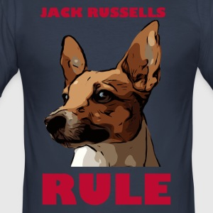 Jack russels rule red - Men's Slim Fit T-Shirt