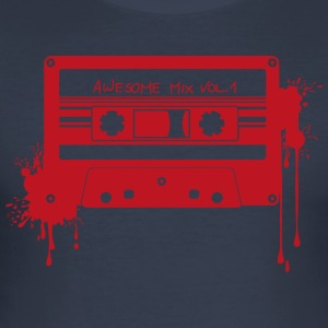 RETRO CASSETTE in het rood - slim fit T-shirt