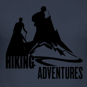 Hiking Adventures - Wanderlust - Männer Slim Fit T-Shirt